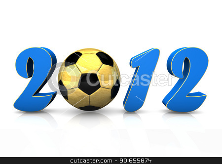 Football 2012 stock photo, Text