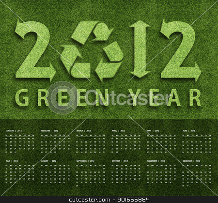 New year 2012 Calendar stock photo, New year 2012 Calendar with ecology conceptual image for 2012 year. by Designsstock