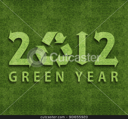 Happy new year 2012 stock photo, Happy new year 2012, ecology conceptual image for 2012 year. by Designsstock