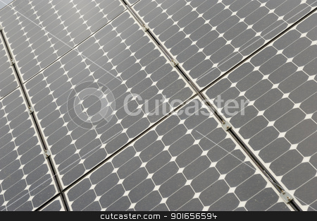 Solar panels stock photo, Solar panels allow the production of clean energy by Maurizio Martini