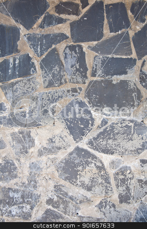 Granite wall stock photo, granite texture background for wall by Charoen Dokkularb