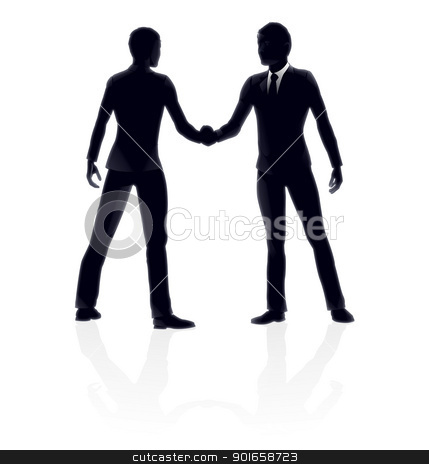 Business people handshake illustration stock vector clipart, Very high quality detailed business people handshake illustration. by Christos Georghiou