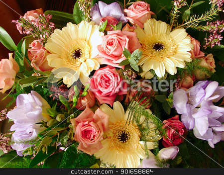 Bouquet flowers  stock photo, Bouquet flowers  by christless