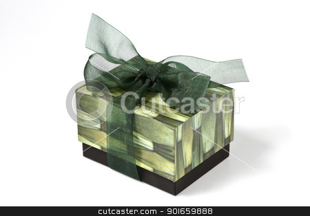 green gift box stock photo,  by audfriday13