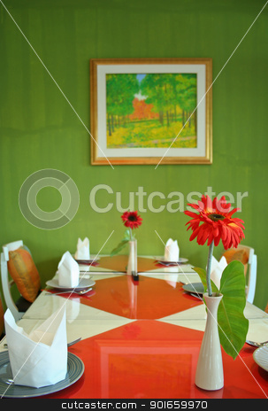 dinning table set stock photo,  by audfriday13