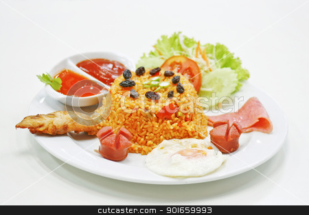american rice fried thai food stock photo,  by audfriday13