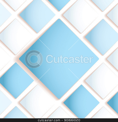 Diamond copyspace stock vector clipart, Blue and white abstract background design with space for your text by Michael Travers