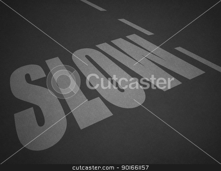 slow stock photo, slow text on fine detail dark grey textured paper sheet by matteo bragaglio