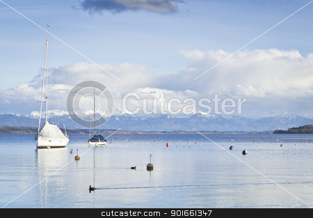 Tutzing at Starnberg Lake stock photo, An image of the Starnberg Lake in Bavaria Germany - Tutzing by Markus Gann