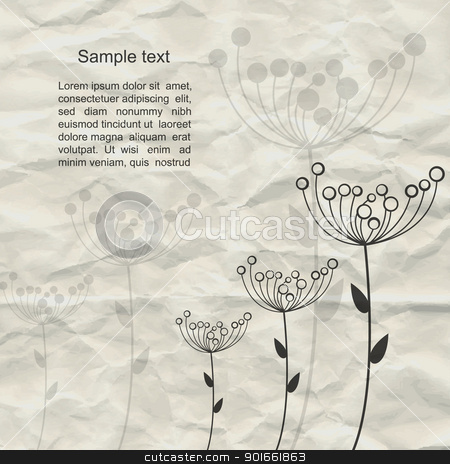 Modern vector web design stock vector clipart, Creative modern vector background with flower by naturartist