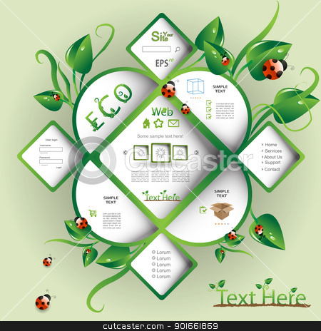 Nature vector web design stock vector clipart, Nature modern vector web design by naturartist