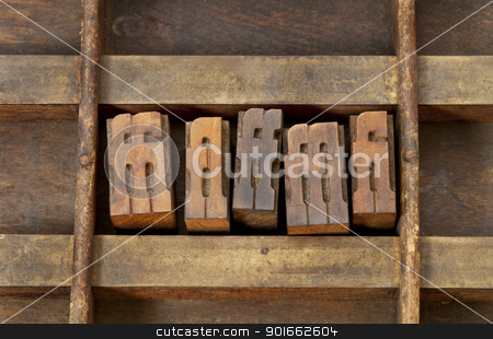 ligature letterpress printing blocks stock photo, ligature - vintage wooden letterpress printing blocks in an old grunge typesetter drawer by Marek Uliasz