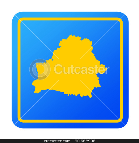 Belaruas European button stock photo, Belarus European button isolated on a white background with clipping path. by Martin Crowdy