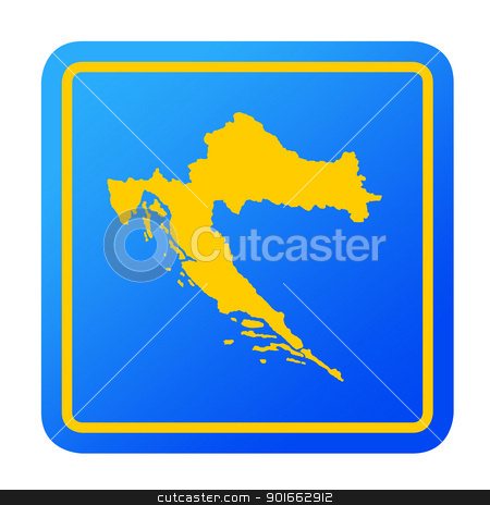 Croatia European button stock photo, Croatia European button isolated on a white background with clipping path. by Martin Crowdy