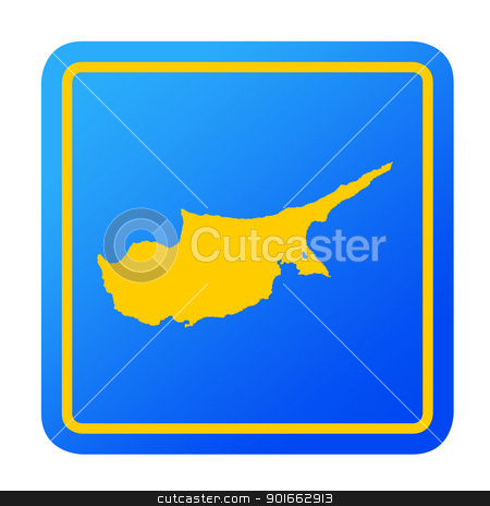 Cyprus European button stock photo, Cyprus European button isolated on a white background with clipping path. by Martin Crowdy