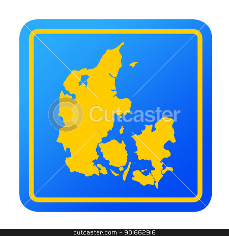 Denmark European button stock photo, Denmark European button isolated on a white background with clipping path. by Martin Crowdy