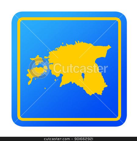 Estonia European button stock photo, Estonia European button isolated on a white background with clipping path. by Martin Crowdy