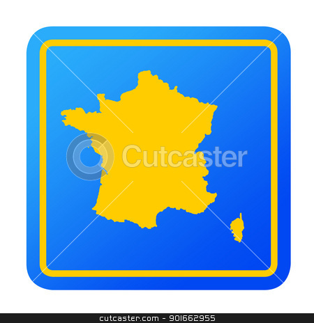 France European button stock photo, France European button isolated on a white background with clipping path. by Martin Crowdy