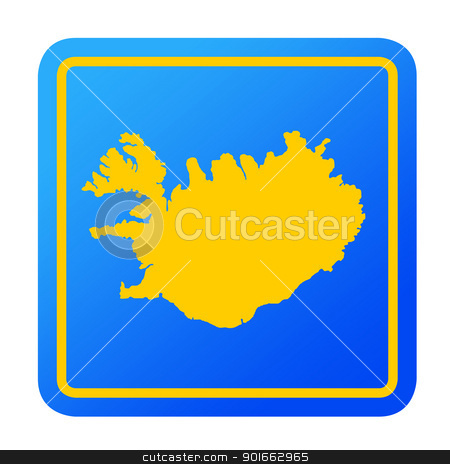 Iceland European button stock photo, Iceland European button isolated on a white background with clipping path. by Martin Crowdy