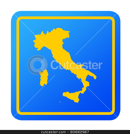 Italy European button stock photo, Italy European button isolated on a white background with clipping path. by Martin Crowdy