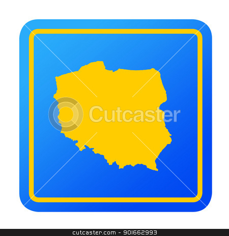 Poland European button stock photo, Poland European button isolated on a white background with clipping path. by Martin Crowdy