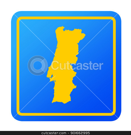 Portugal European button stock photo, Portugal European button isolated on a white background with clipping path. by Martin Crowdy