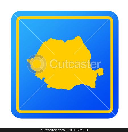 Romania European button stock photo, Romania European button isolated on a white background with clipping path. by Martin Crowdy