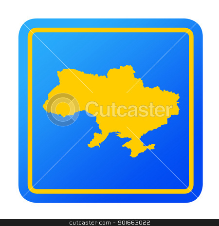 Ukraine European button stock photo, Ukraine European button isolated on a white background with clipping path. by Martin Crowdy