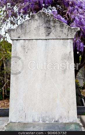 Tombstone stock photo, Collection of the most beautiful and moving architectures examples and details in European cemetaries by Perseomedusa