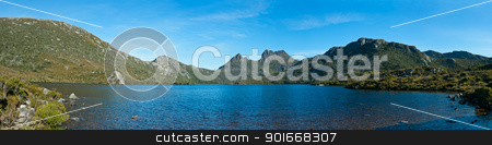 Panorama of Lake dove cradle mountain, Tasmania stock photo, Panorama of Lake dove cradle mountain, Tasmania, Australia by Ulrich Schade