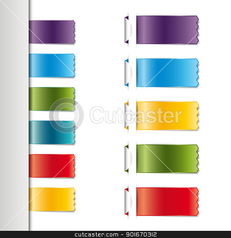Ribbons stock vector clipart, Ribbons set, isolated on white background by Miroslava Hlavacova