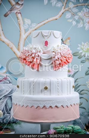 Wedding Cake stock photo, Image of a beautifully decorated wedding cake by Greg Blomberg