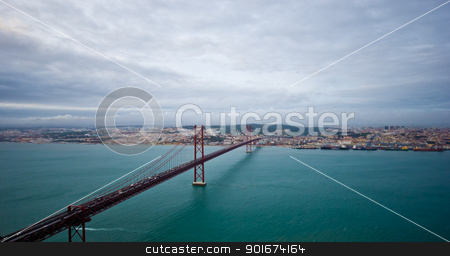 View over Lisbon stock photo, aerial view over the city of Lisbon, Portugal by Juliane Jacobs