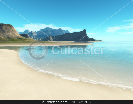 beach scenery background stock photo, An image of a beach scenery background by Markus Gann