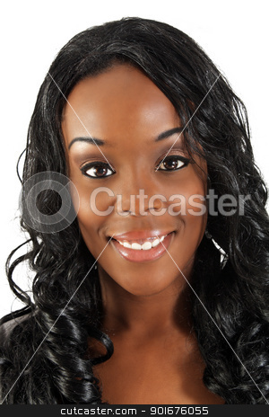 Beautiful Black Woman, Headshot (36) stock photo, An extraordinarily beautiful young black woman with amazingly captivating eyes and a captivating smile. by Carl Stewart