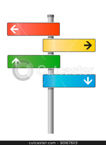 Blank signpost. Vector illustration. stock vector clipart, Blank signpost. Vector illustration.  by vtorous
