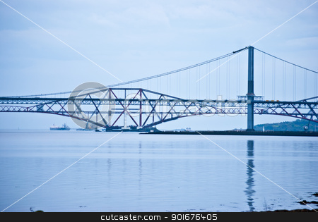 Firth of Forth stock photo, the bridges over the Firth of Forth in Scotland by Juliane Jacobs