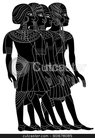 Women of Ancient Egypt stock vector clipart, Illustration of the Women of Ancient Egypt - vector  by Siloto