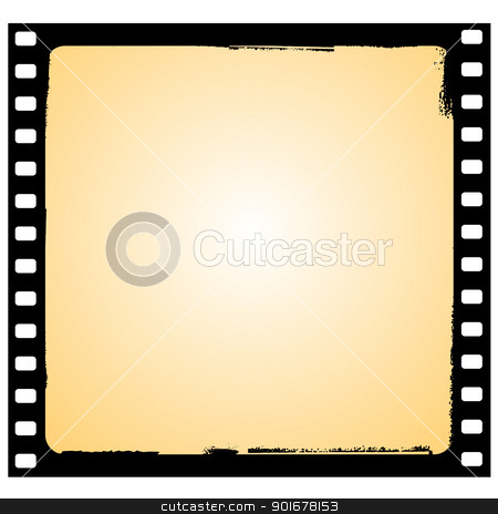 vector film frame in grunge style stock vector clipart, Illustration of the film frame in grunge style - vector by Siloto