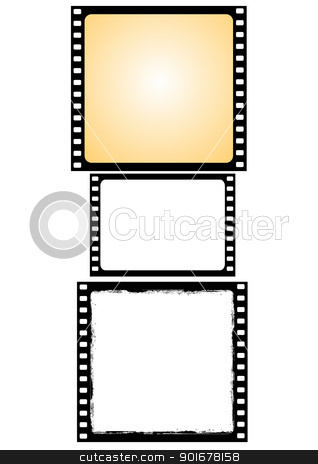 various film frames - vector stock vector clipart, Illustration of the various film frames - vector by Siloto