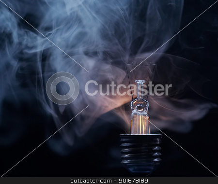 bulb stock photo, Abstract shot - detail of the blown-out bulb by Siloto