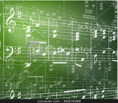 Music background stock vector clipart, Music background with notes by vtorous
