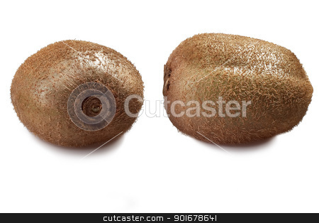 Two kiwi stock photo, Two fruit kiwi isolated on a white background by Aleksandr Davydov