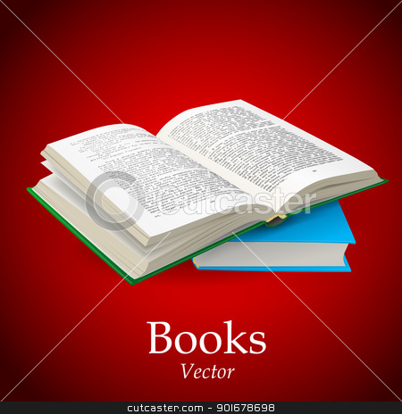 Open Book stock vector clipart, Open Book by vtorous