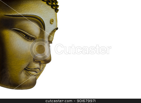 Beautiful face of Buddha image stock photo,  by pattarastock