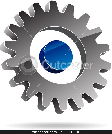 Gear stock vector clipart, Gear symbol. Vector illustration. by vtorous