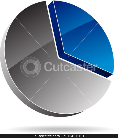 Diagram stock vector clipart, Vector diagram. by vtorous