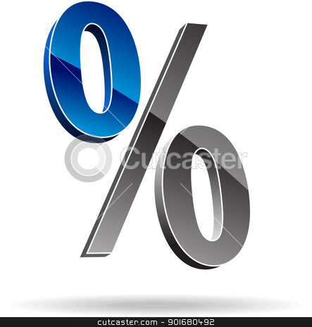 Percent symbol stock vector clipart, Percent symbol. Vector illustration. by vtorous