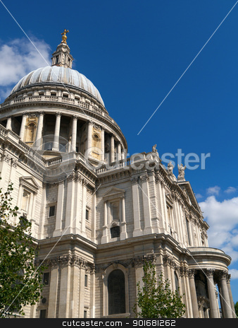 Close up of St Paul's Cathedral in London UK. stock photo, Close up of St Paul's Cathedral in London UK. by Stephen Rees