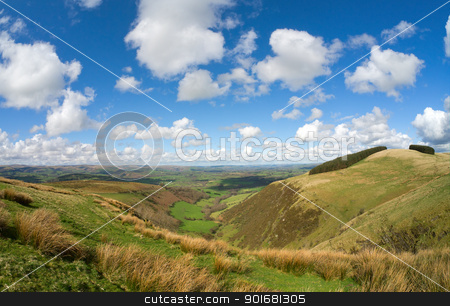 Wales scenic hills, view from the Mynydd Epynt. stock photo, Wales scenic hills, view from the Mynydd Epynt. by Stephen Rees